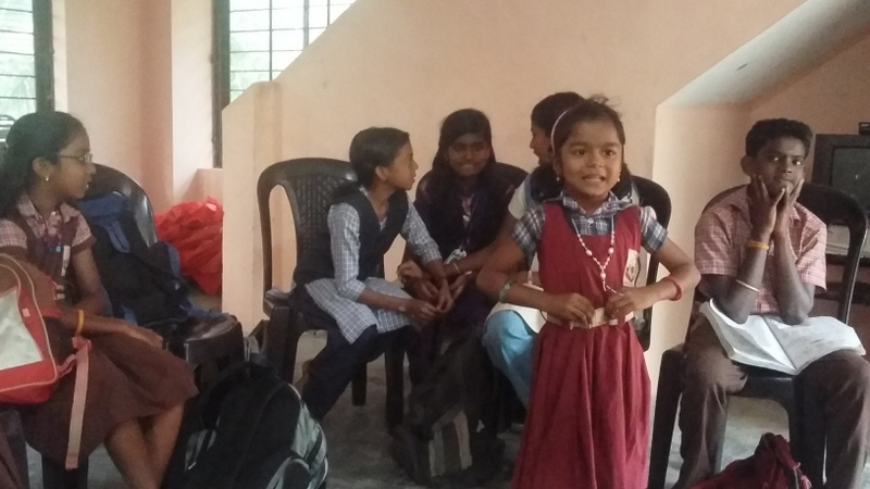 School children at tuition group